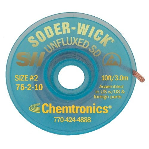 Soder-Wick Unfluxed - 75-2-10