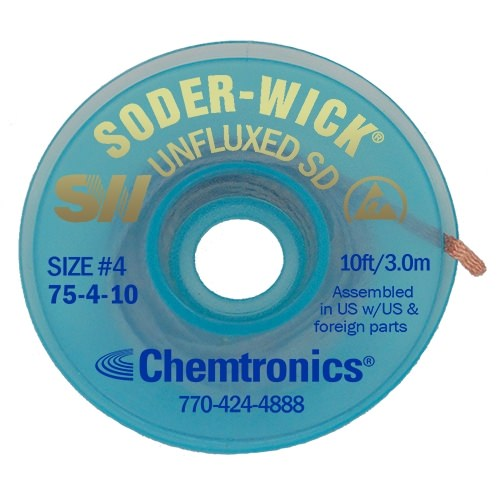 Soder-Wick Unfluxed - 75-4-10